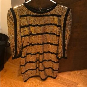 Sparkle black and gold dress